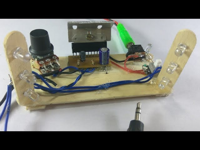 Amplifier - 6283 single channel amplifier and music reactive LEDs