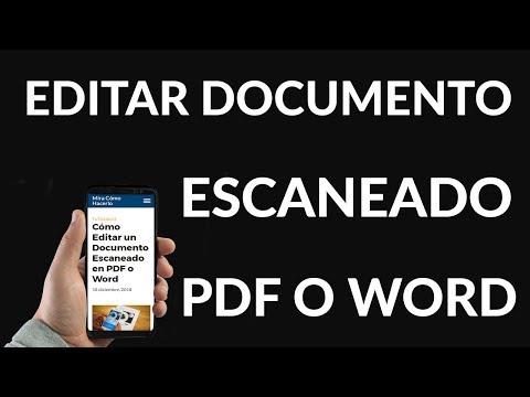Cómo Editar un Documento Escaneado en PDF o Word
