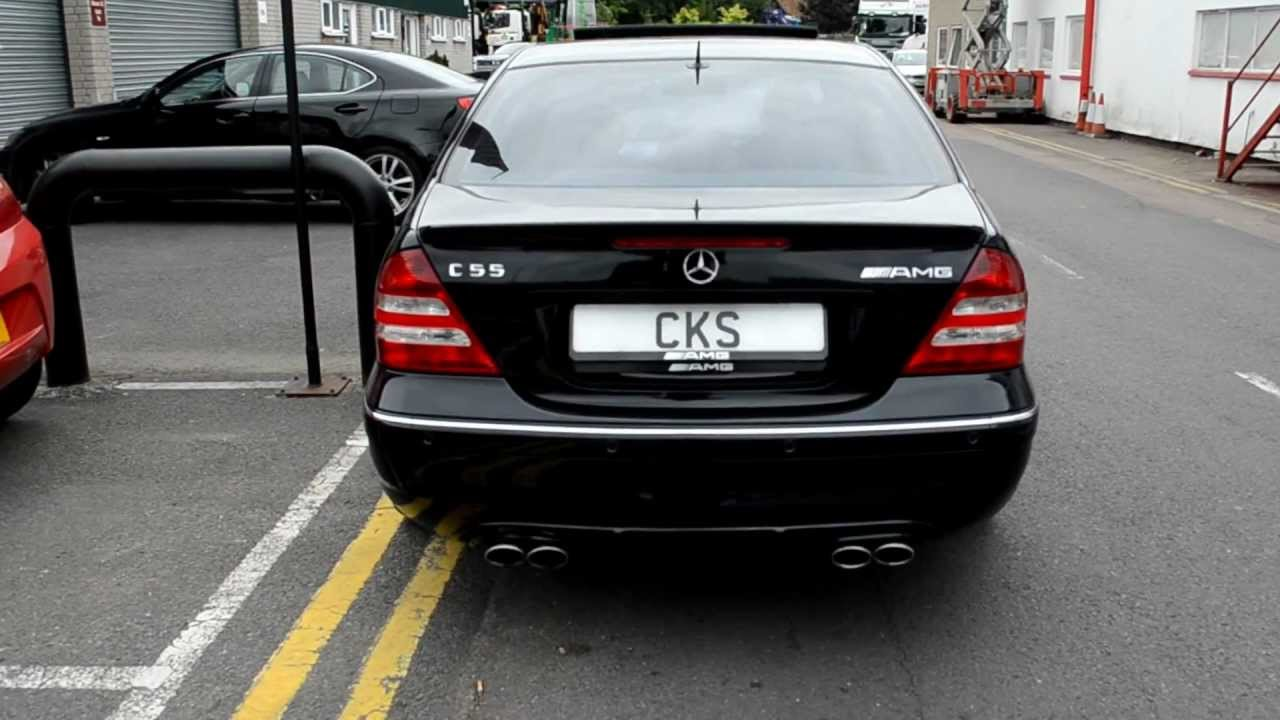 Free Flow Exhaust >> AMG W203 C55 CKS Sport Exhaust + Accessories - YouTube