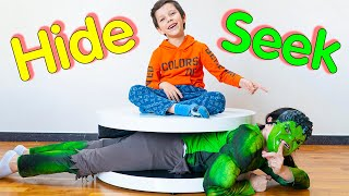 Artem and Funny Play Hide and Seek | Home game for children