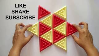 3d Wall Decor | Most Amazing 3d Wall Decor Ideas | Origami Art | Paper Craft | Diy Design 4