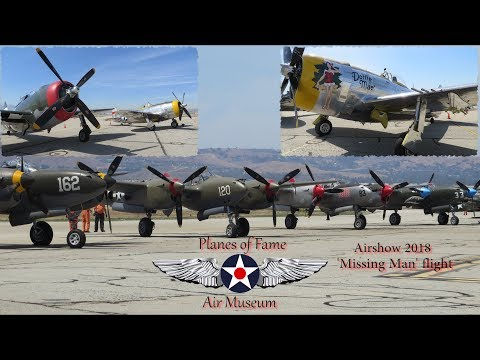 P-47D Thunderbolt 'Dottie Mae' Missing Man Flight, Planes of Fame airshow 2018