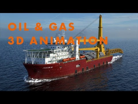 Offshore Oil & Gas 3D Animation - Subsea Pipeline Maintenanc