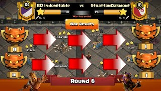 Clan War Leagues - TH12 Attacks & Defense 2019 - Clash Of Clans - Round 6 (Season 4)