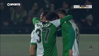 Goal | Golo Bruno Fernandes: Feirense 0-(2) Sporting (Taça de Portugal 18/19 1/4 Final)