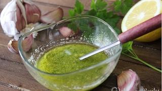 Cómo hacer salsa de ajo, limón y perejil para pescados  Receta de salsa de ajo, limón y perejil