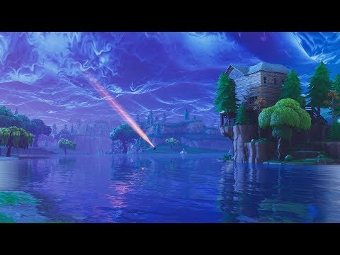 Fortnite With Meteors Background - Wallpaper Engine