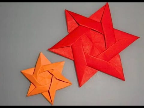 Origami star tutorial - how to make a star by paper