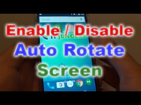 how to turn on screen rotation