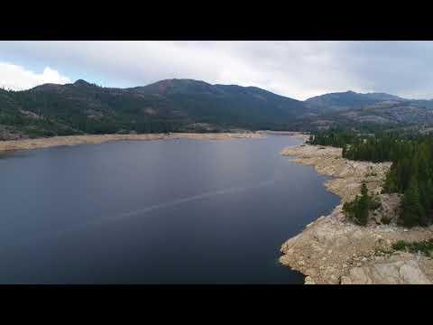Lake Spaulding In Nevada County, CA - HD 4K Drone Video