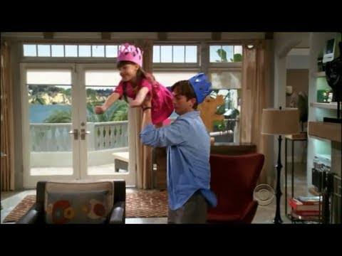 Two and a Half Men - Walden Entertains Ava [HD]