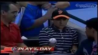 Young Baseball Fan Gives Foul Ball Back to Crying Boy At Giants Diamondbacks game