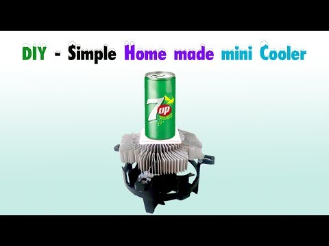 DIY - Simple Home made mini Cooler/drink chiller.
