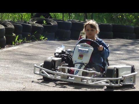 •*★Детский картинг Мастер  класс от Насти•*★ Childrens Karting Master Class By Nastya