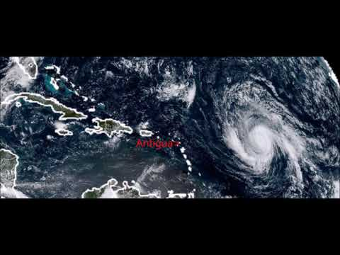 Hurricane Irma makes land fall in Antigua and Barbuda. Hon. Priest Isaac
