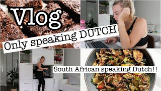 SPEAKING ONLY DUTCH FOR THE ENTIRE DAY 😊 (South African speaking Dutch) - subtitles included