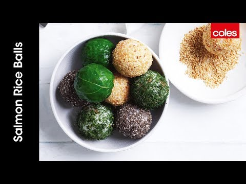 Easy smoked salmon rice balls
