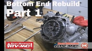 Motorcycle Bottom End Rebuild Part 1  Engine Teardown