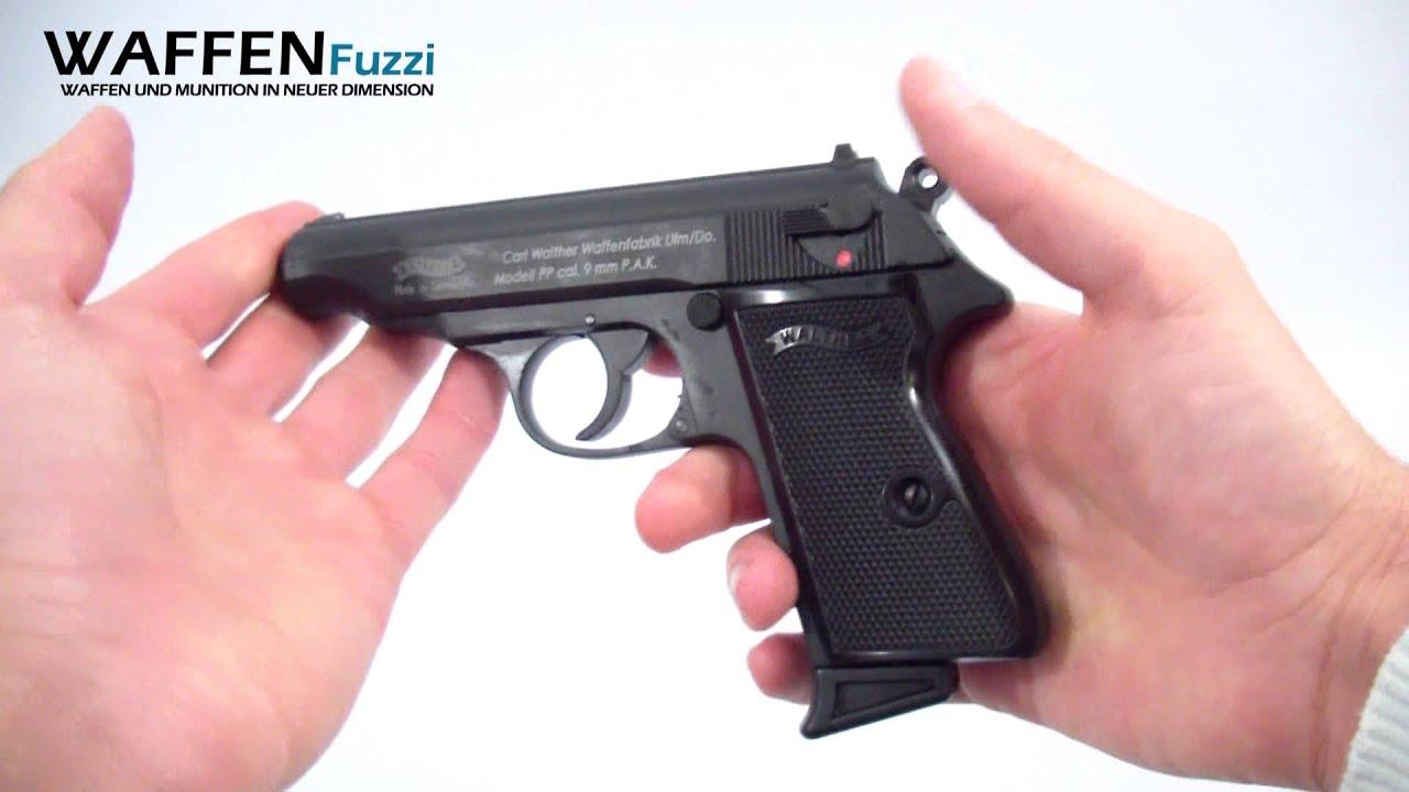 walther pp kal 9mm p a k schreckschuss waffen test gas pistole youtube. Black Bedroom Furniture Sets. Home Design Ideas