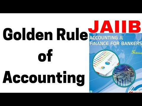 The Golden Rule of Accounting and how it works