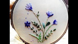 Hand embroidery designs | Flower tree design