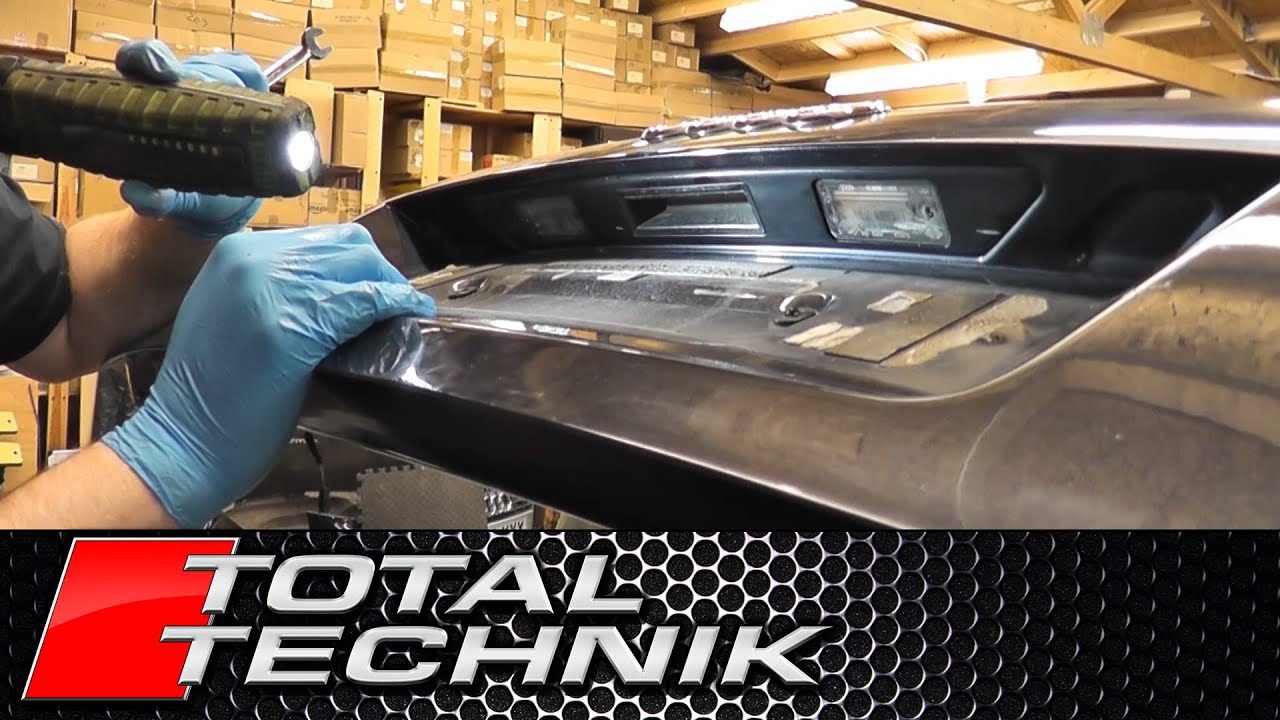 How To Remove Boot Tailgate Handle Audi A4 S4 Rs4 B6 B7