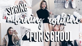 Spring Morning Routine For School 2018 ThatsBreexo