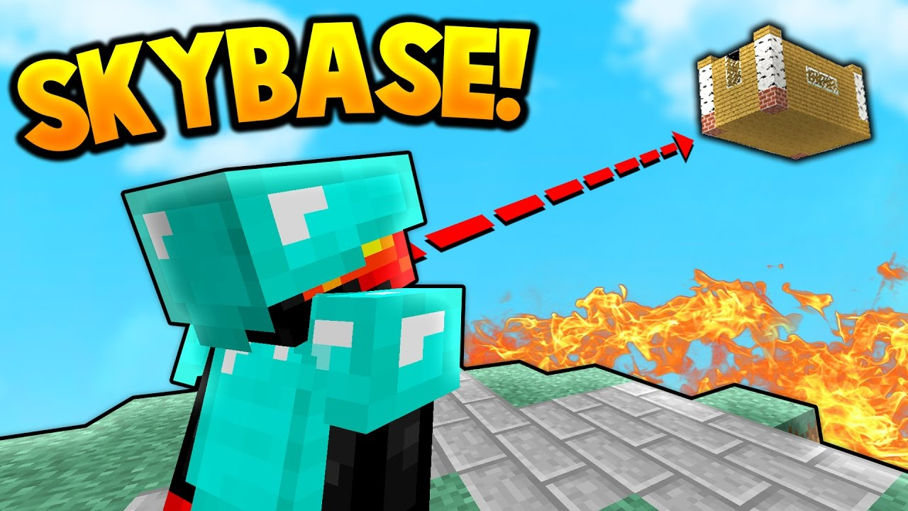 SKY BASE TROLLING! | Minecraft SKY WARS - YouTube