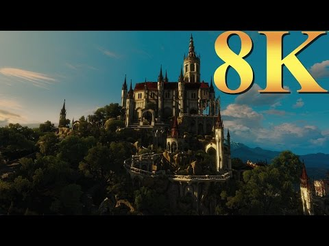 The Witcher 3 Blood & Wine 8K Ultra Gameplay Titan X Pascal 3 Way SLI Gaming 4K | 5K | 8K And Beyond