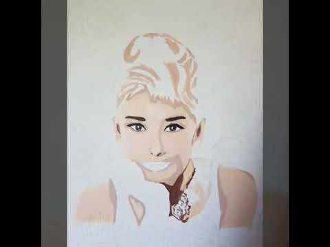 Audrey Hepburn pop art - YouTube