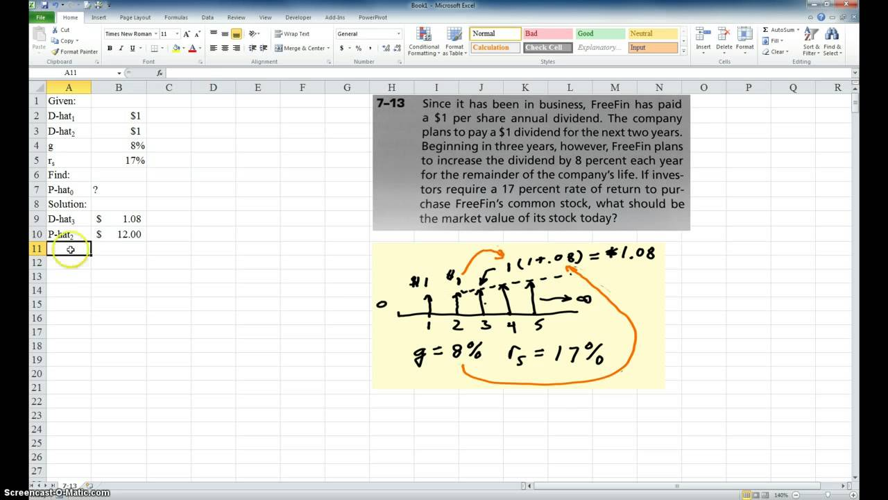 The gordon growth formula on excel youtube alramifo Image collections