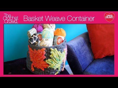 How to Crochet A Basket: Basketweave Stitch Left Handed