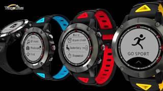 G01 GPS Smart Watch IP68 Waterproof Blood Pressure Oxygen Heart Rate Smart Watch Compass Swim Sports