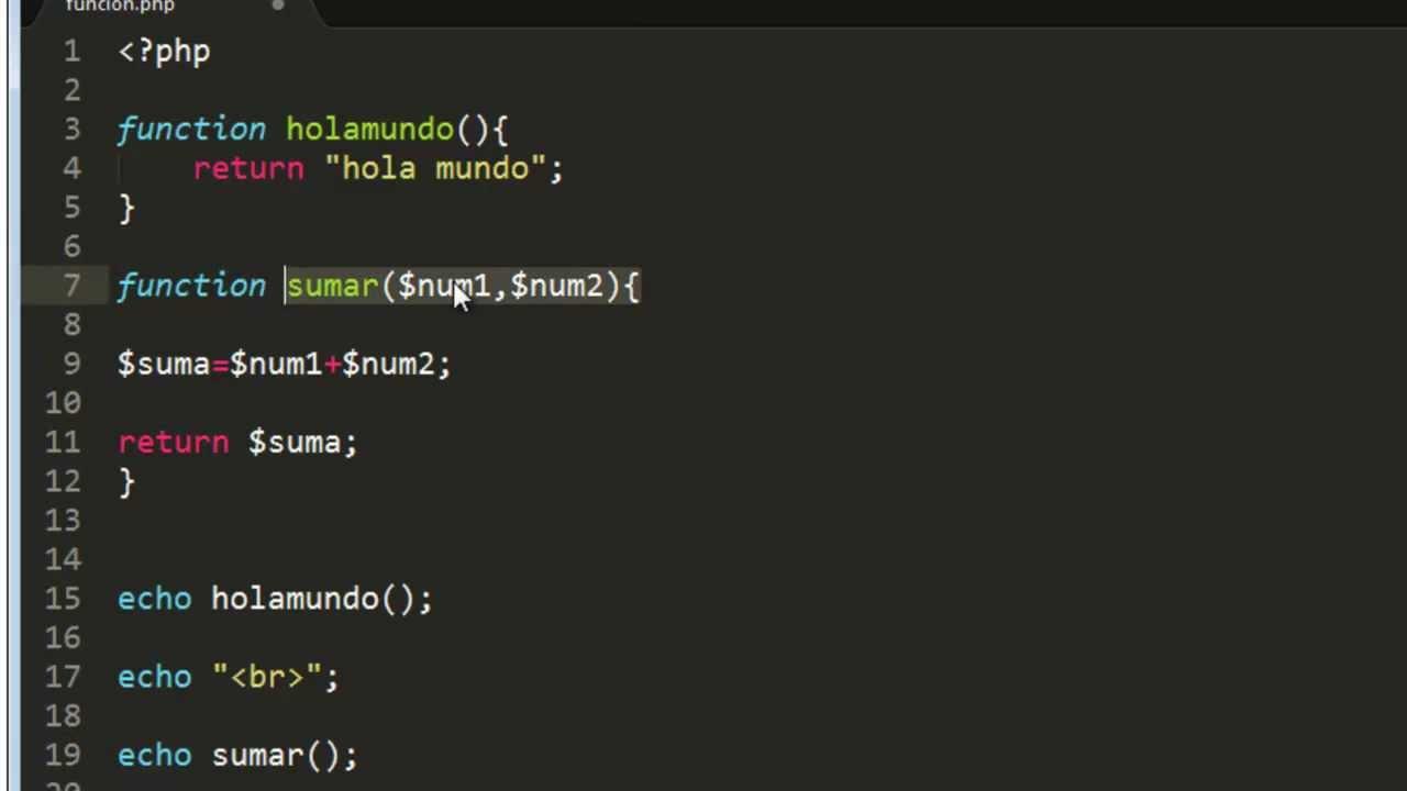 Funciones en PHP | Función en PHP | Uso de Funciones en