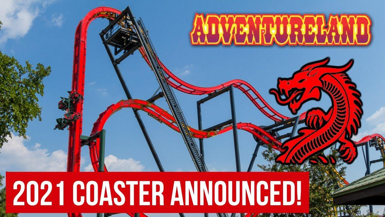 Dragon Slayer New For 2021 Adventureland Roller Coaster Breakdown Analysis Youtube