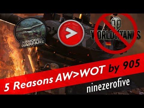 "TOP 5 : WHY ""Armored Warfare"" -KILLS- ""World of Tanks"""