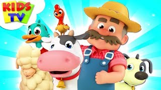 Old MacDonald | Kindergarten Nursery Rhymes For Kids | The Supremes Cartoon Song - Kids TV