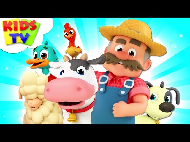 Old MacDonald | Kindergarten Nursery Rhymes For Kids | The Supremes Cartoon Song - Kids TV