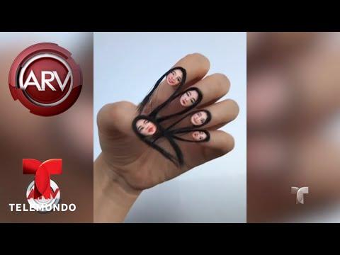 Técnica de manicure usa pelo sintético en las uñas | Al Rojo Vivo | Telemundo