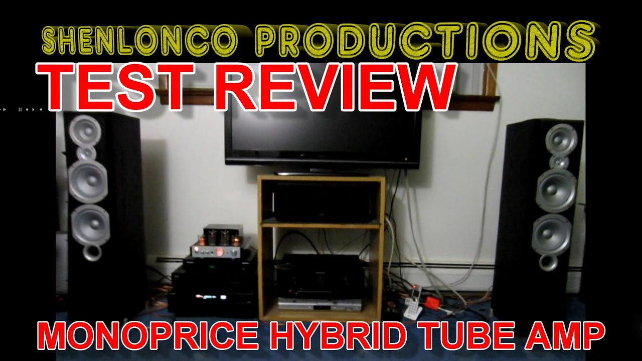 review Monoprice stereo Hybrid Tube Amp with Bluetooth infinity primus  speakers