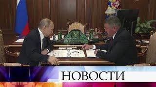 В.Путин обсудил с губернатором Вологодской области социально-экономическое положение в регионе.