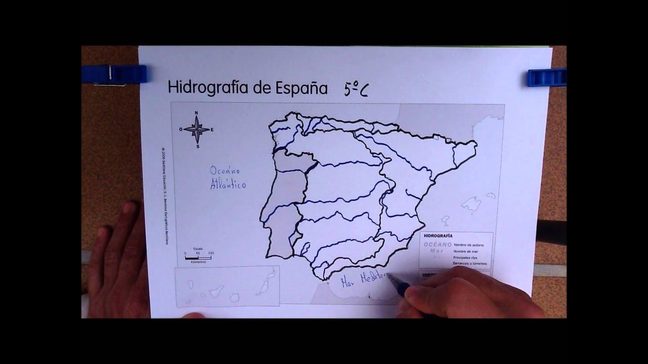 Mapa Hidrografico De España.Mapa Hidrografico 5º