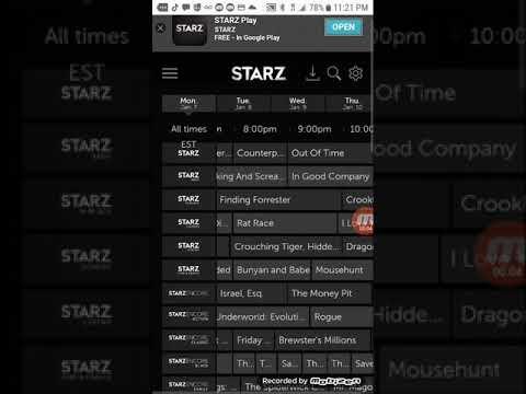 Tv schedule (STARZ)