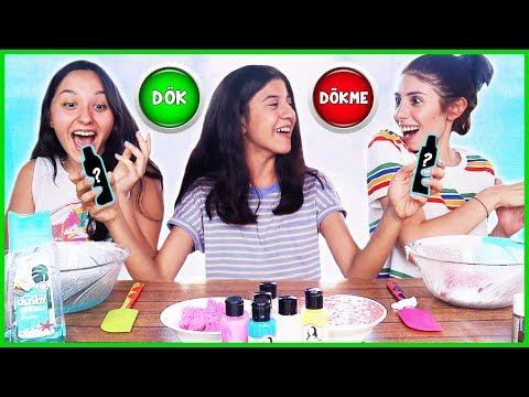 Slime Challenge Dök Dökme Slaym Eğlenceli Çocuk Videosu Dila Kent
