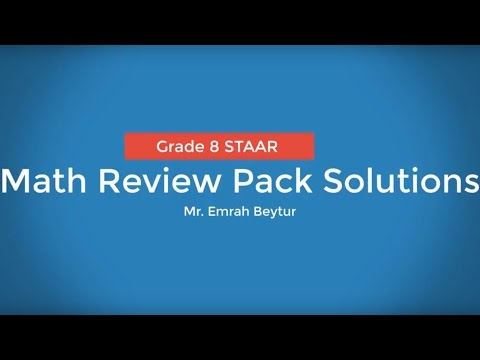 8th Grade STAAR Math Review Questions and Explained Solutions