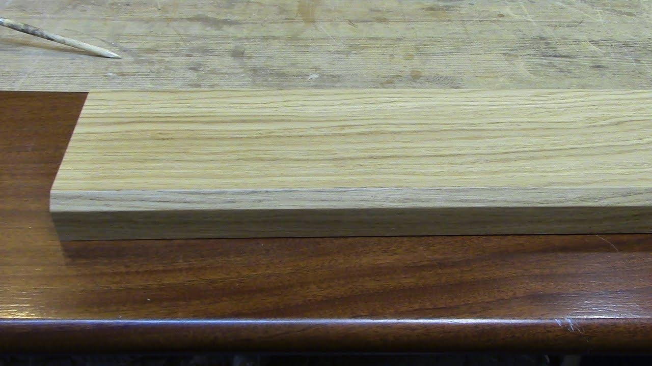 Как наклеить дубовый шпон на изогнутые поверхности