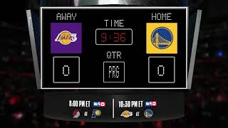 Lakers @ Warriors LIVE Scoreboard - Join the conversation & catch all the action on #NBAonTNT!