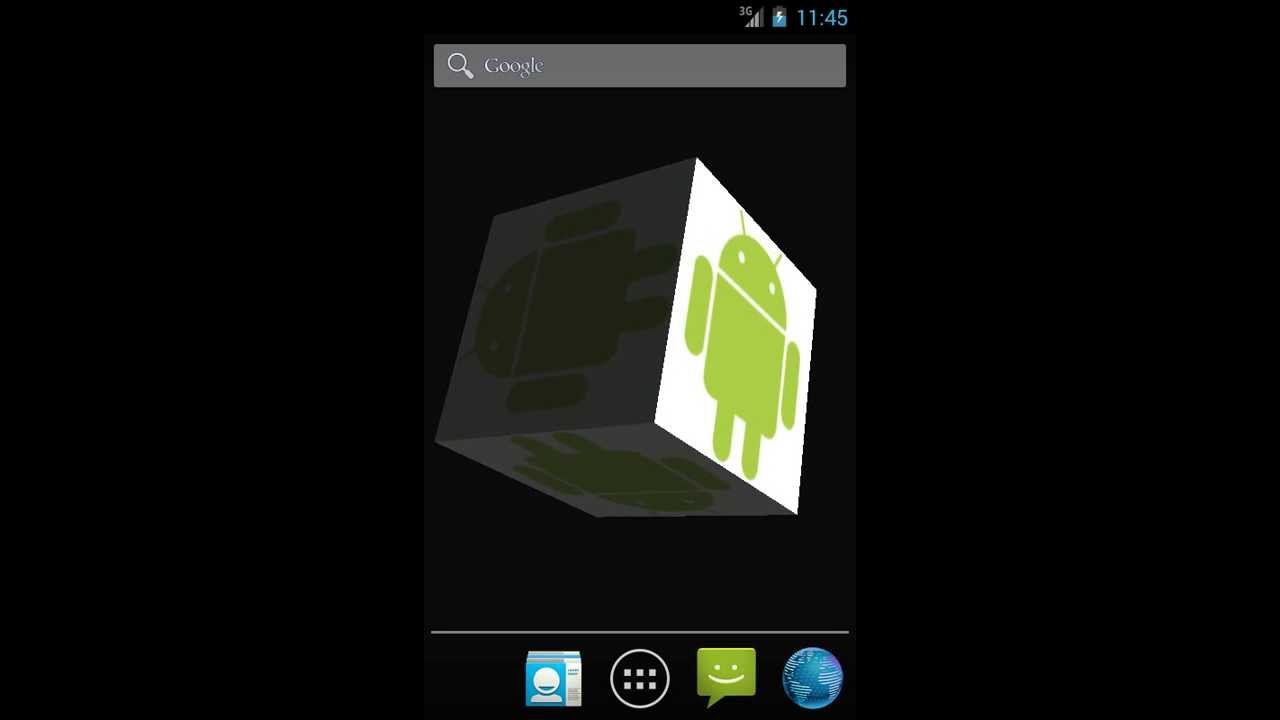 Android App 3d Picture Cube Wallpaper Youtube