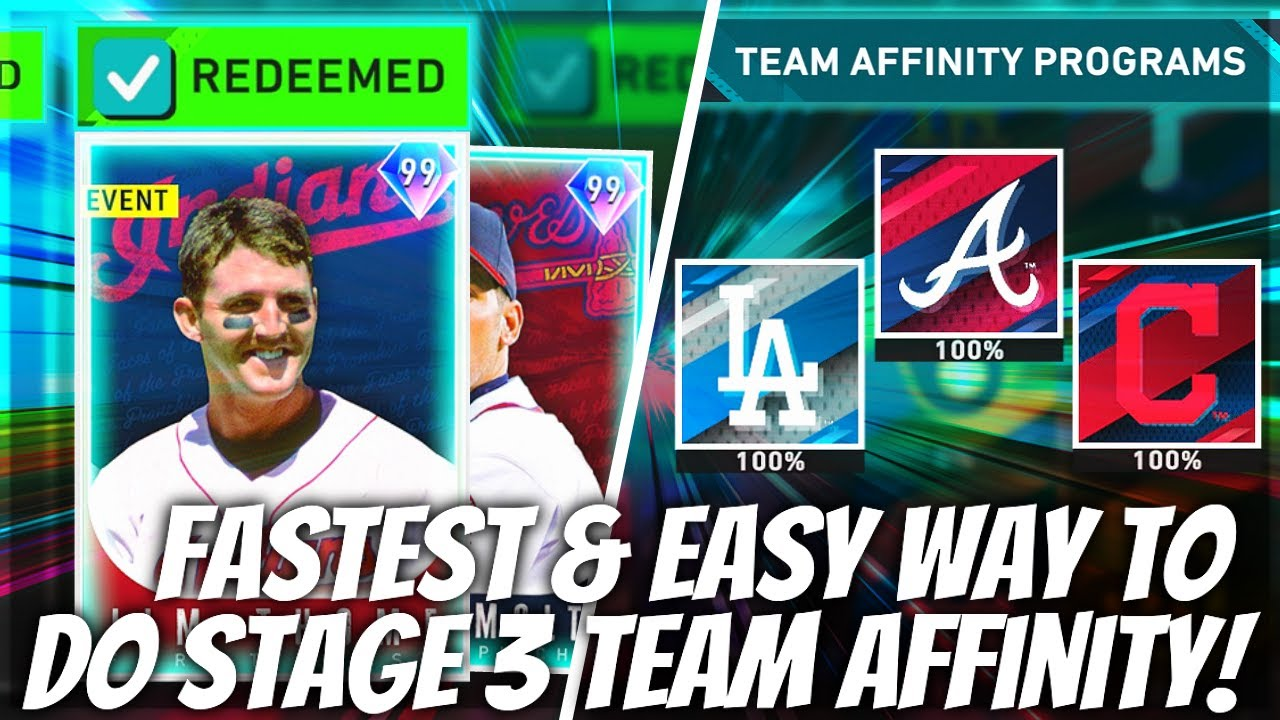 How To Complete Stage 3 Team Affinity FAST! Easiest New Method! MLB The Show 20 Tips