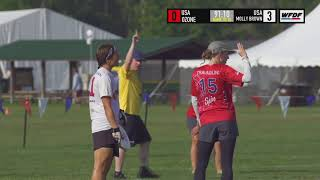 WUCC 2018 - Atlanta Ozone (USA) vs Molly Brown Ultimate (USA)